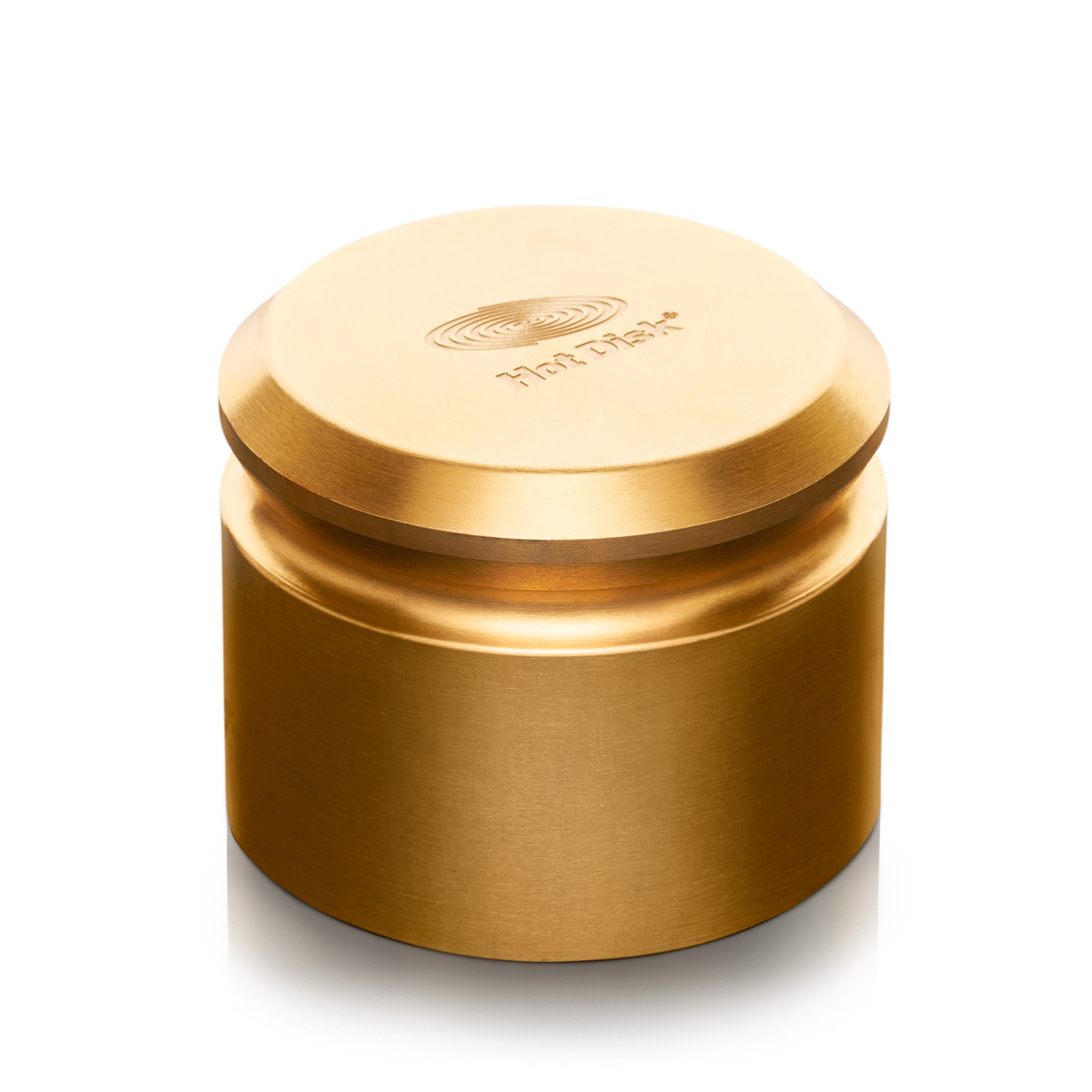 Photo of a Hot Disk Brass Weight 80mm