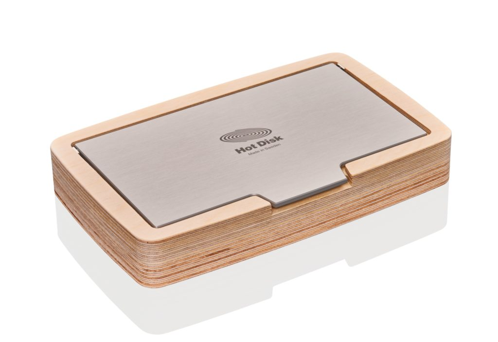 Photo of a Hot Disk Wooden Box for Verification Samples
